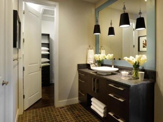 Master Bathroom Sink Closet