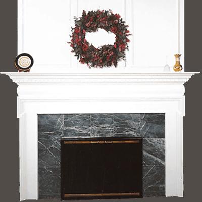 bradbury fireplace mantel