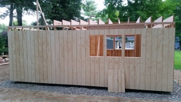 Shed construction in Connecticut